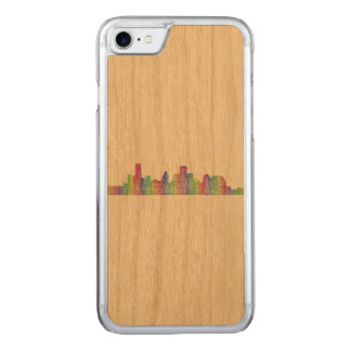 Houston-Stadt-Skyline Carved iPhone 8/7 Hülle