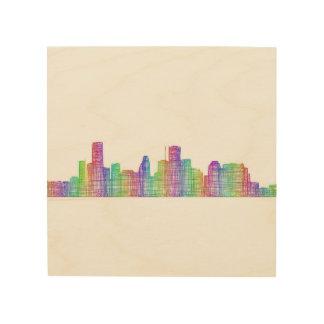 Houston-Stadt-Skyline Holzdruck