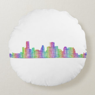 Houston-Stadt-Skyline Rundes Kissen