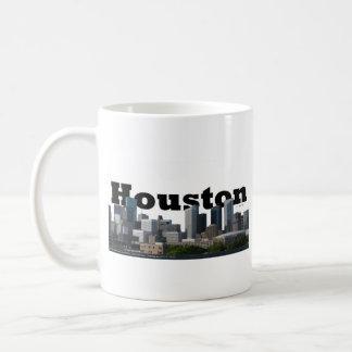 Houston, TX Skyline mit Houston im Himmel Kaffeetasse