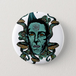 Howard Phillips Lovecraft Runder Button 5,1 Cm
