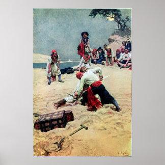 Howard Pyle, der Kapitän ist Poster