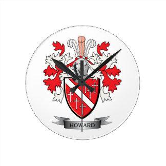 Howard-Wappen Runde Wanduhr
