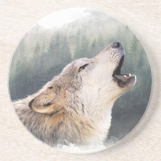 Howling Wolf Getränkeuntersetzer
