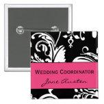 HP&B Hochzeits-Koordinator-Quadrat-Knopf Quadratischer Button 5,1 Cm