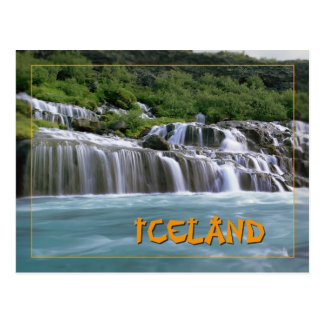 Hraunfossar Island Postkarte