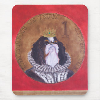 HRH König Charles, unbekümmerter Spaniel Mousepad
