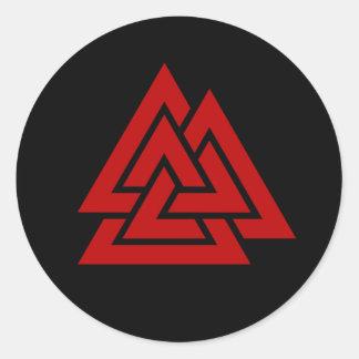 Hrungnirs Herz (Rot u. Schwarzes) Runder Aufkleber