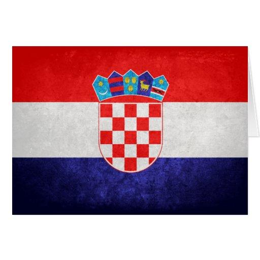 Hrvatska; Kroatien-Flagge Grußkarten