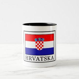 Hrvatska Zweifarbige Tasse