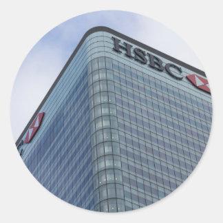 HSBC ragen London hoch Runder Aufkleber