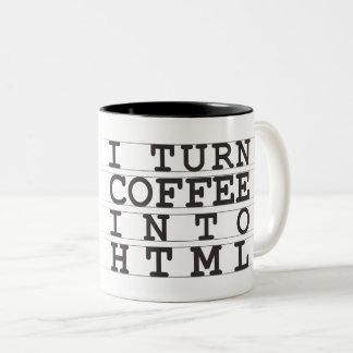 HTML-Kaffee Zweifarbige Tasse