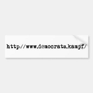 http://www.democrats.kampf/ autoaufkleber