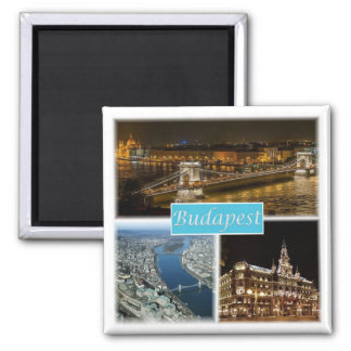HU * Ungarn - Budapest Quadratischer Magnet