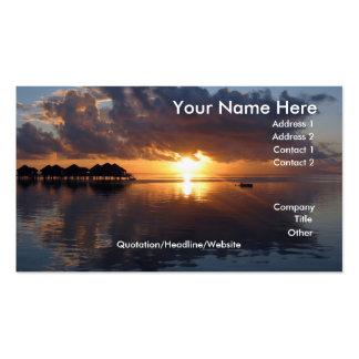 Huahine Sonnenuntergang-Visitenkarte Visitenkarten