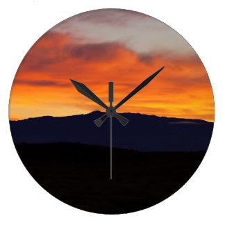 Hualalai Sonnenuntergang Große Wanduhr