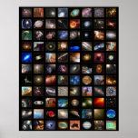 Hubble Raum-Plakat