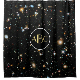 Hubble ultra tiefes Feld mit kundenspezifischem Duschvorhang