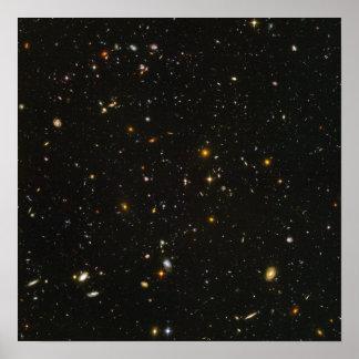 Hubble Weltraumteleskop-Feld der Galaxien Poster