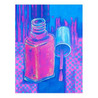 Hübsch auf rosa Nagellack Postkarte
