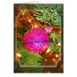 Hübsch im Rosa - funkelnde Weihnachtsverzierung Karten
