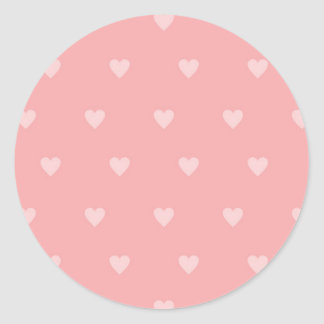 Hübsch in den rosa Herz-Aufklebern Runder Aufkleber
