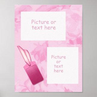 Hübsch in der rosa ~ 2 Fenster-Blumenseite Poster