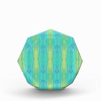 Hübsche aquamarine Zitronen-Limones modernes Acryl Auszeichnung