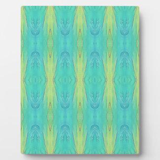 Hübsche aquamarine Zitronen-Limones modernes Fotoplatte