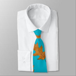 Hübsche blaue große Blatt-Natur-Druck-Krawatte Krawatte