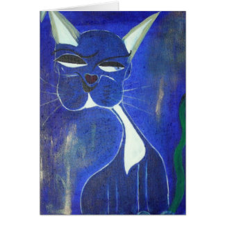 Hübsche blaue Katze Grußkarten