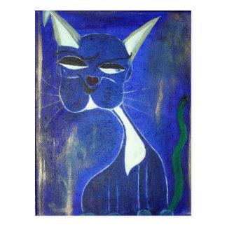 Hübsche blaue Katze Postkarte