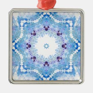 Hübsche blaue Schmetterlinge Silbernes Ornament