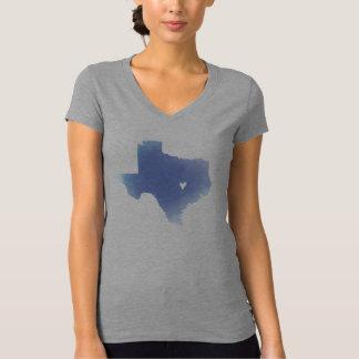 Hübsche blaue Texaswatercolorkarte T-Shirt