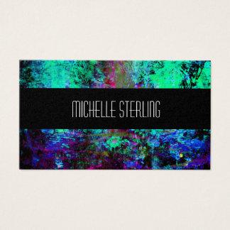 Hübsche blaue und lila abstrakte visitenkarte