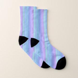 Hübsche blaue und lila Pastellmuster-Socken Socken