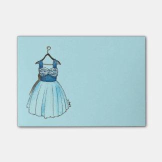 Hübsche blaue Vintage Post-it Klebezettel