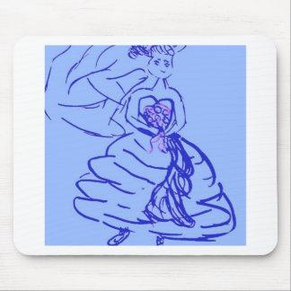 Hübsche Braut im Blau Mousepads