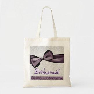 Hübsche Brautjungfern-Taschen-lila Budget Stoffbeutel