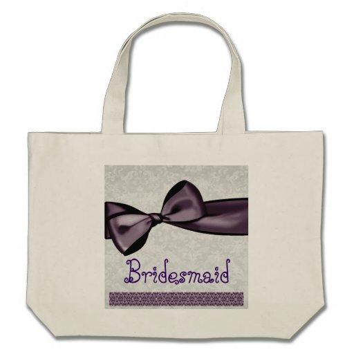 Hübsche Brautjungfern-Taschen-lila Imitat-Satin-Bo