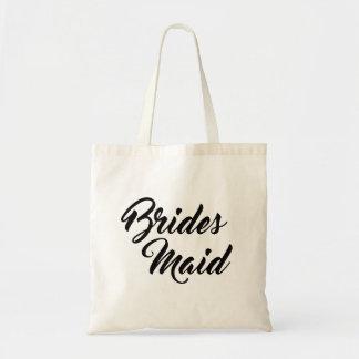 Hübsche Brautjungfernbevorzugungs-Taschentasche Budget Stoffbeutel