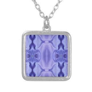 Hübsche Chic-Schatten des Lavendel-Musters Versilberte Kette