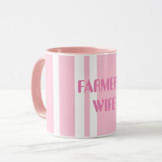 Hübsche die Ehefrau-Tasse des rosa Bauern Tasse