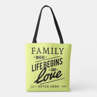 Hübsche Familien-Liebelebengelb-Taschentasche Tasche