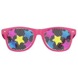 hübsche farbige Sternschatten Retro Sonnenbrillen