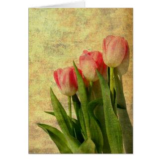 Hübsche Frühlings-Tulpen Notecards Karte