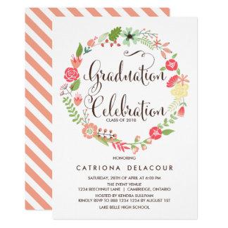 Hübsche Gartenwreath-Abschluss-Party Einladung