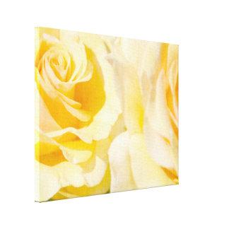 Hübsche gelbe Rosen Leinwanddruck