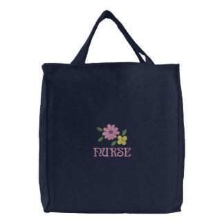 Hübsche gestickte Krankenschwester-Taschen-Tasche Bestickte Tragetasche