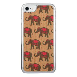 Hübsche graue heiße rosa Elefanten auf rosa Carved iPhone 8/7 Hülle